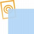 pvc folie transparant licht blauw 297x210x0,10mm