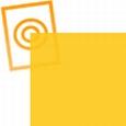 pvc folie transparant oranje 297x210x0,10mm
