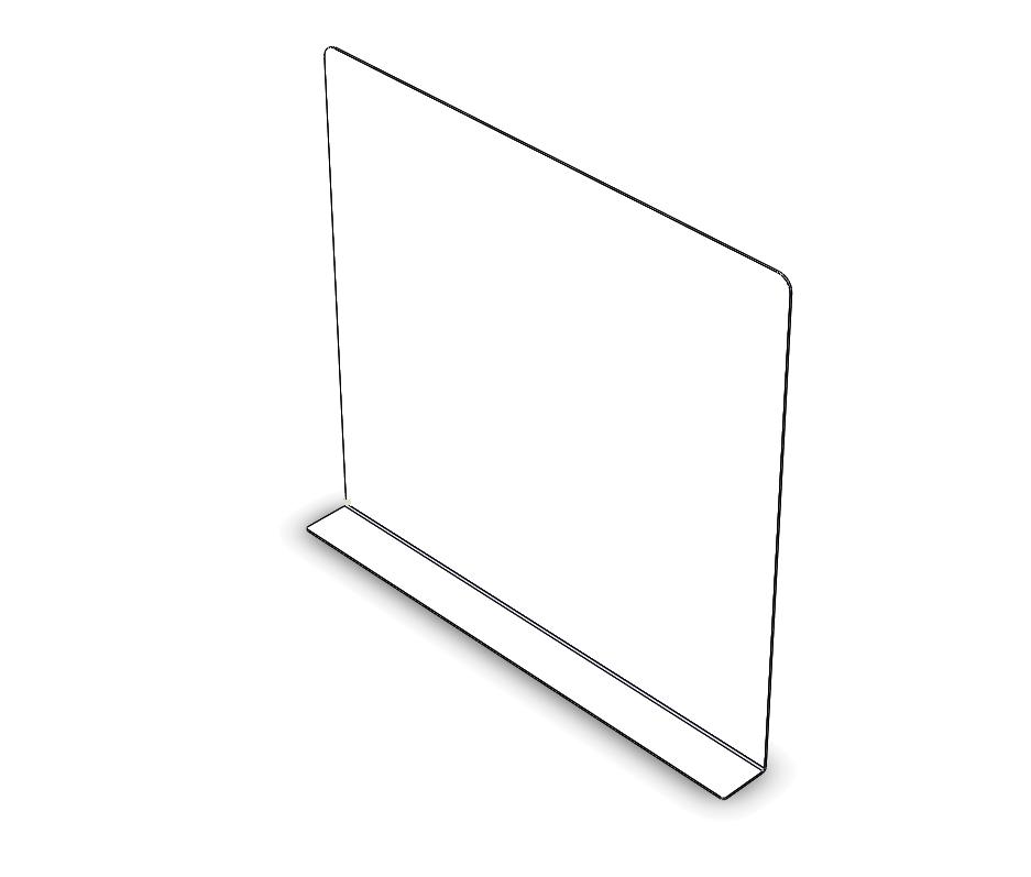 Transparante scherm voor op tafel