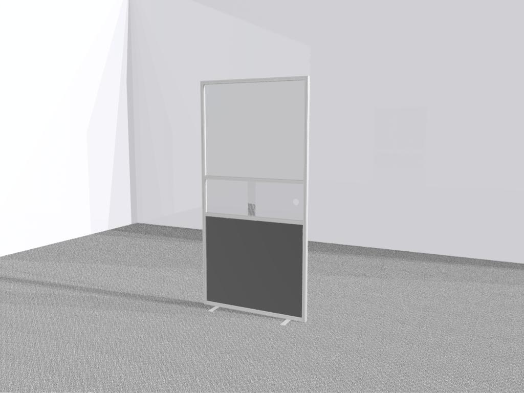 Verkiezingsscherm staand transparant met schuifluik