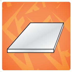 Kunststof plaat (dikte => 1,0 mm)